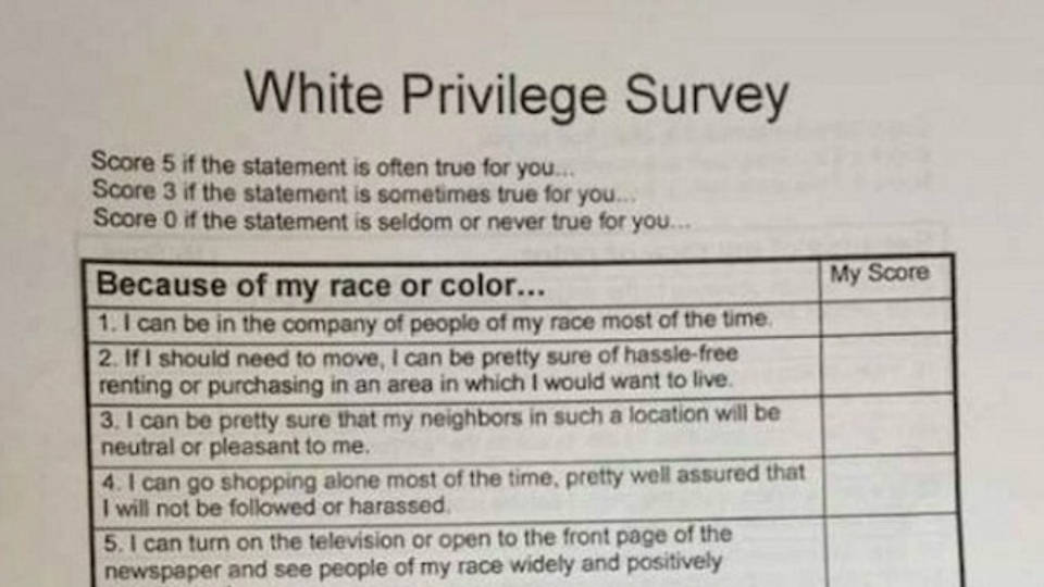 white privilege in politics The term white privilege isn't logical a privilege implies a benefit over and above the norm.