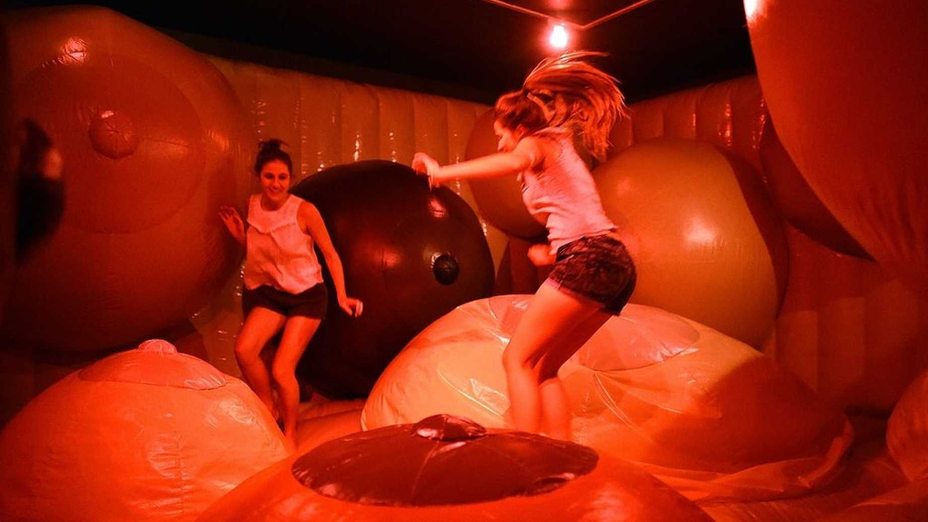 Image result for the museum of sex nyc  The Bouncy Castle of Breasts
