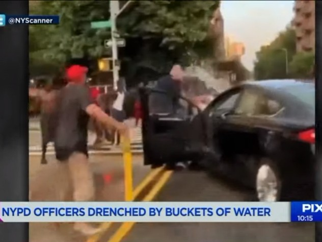 Anarchy In De Blasio's New York as Cops Are Drenched in